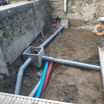 Mise aux normes réseau et réfection de la cour - St Enogat (35)