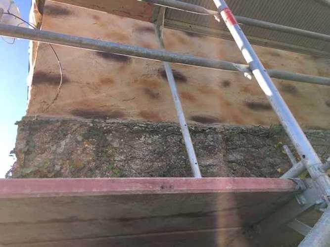 Enduit extérieur fausse pierre et jointoiement de pierre img2086