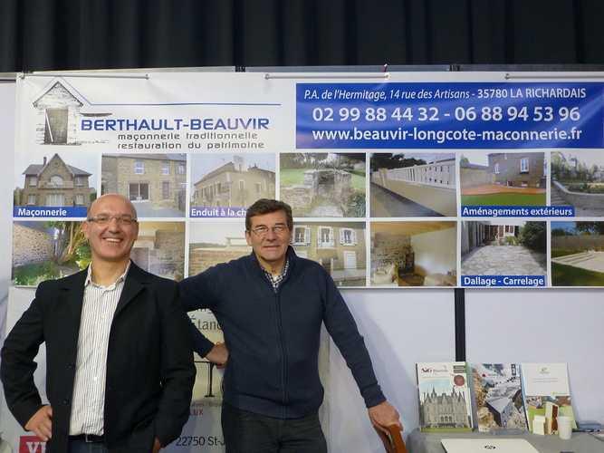 BERTHAULT BEAUVIR MACONNERIE : notre stand au salon de l''habitat de St-Malo 0