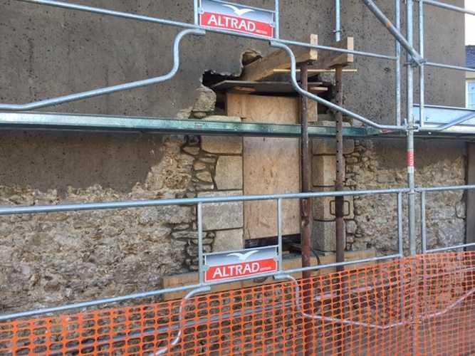 Retrouver la pierre sur la façade et jointements à la Chaux - Chantier Dinard img0916