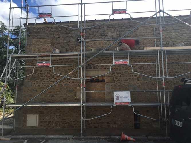 Réfection façade avec pose d''enduit - Dinard img0980