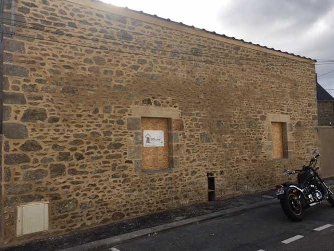 Réfection façade avec pose d''enduit - Dinard img1010