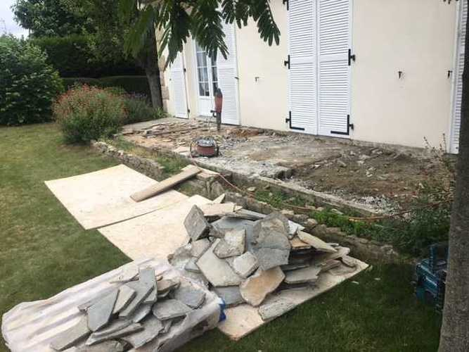 Démolition et création d'une nouvelle terrasse- Saint-Briac img1751